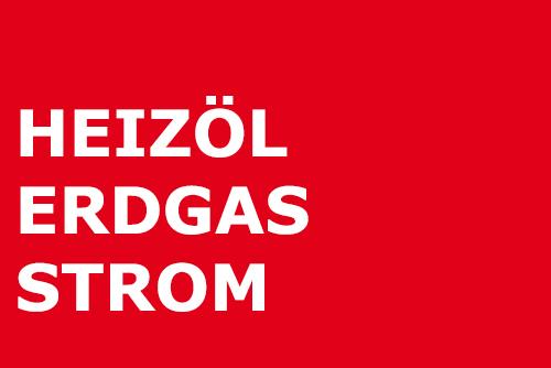 Heizöl, Erdgas und Strom
